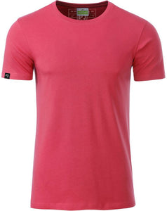 Bio-Baumwolle T-Shirt COMPANIEER Organic Cotton Raspberry Red Rot