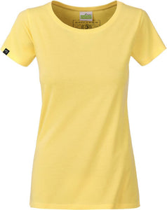 Organic Cotton Tshirt - COMPANIEER Bio-Baumwolle Gelb Yellow Light