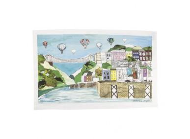Clifton balloons tea towel full colour