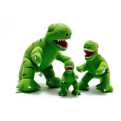 Medium Knitted T Rex - Green