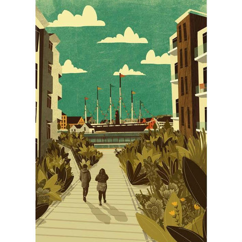 SS Great Britain Print by Emy Lou Holmes