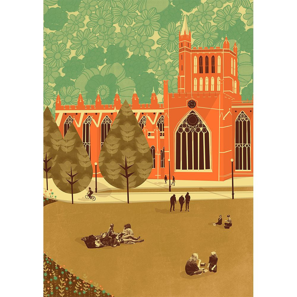 Cathedral A3 Print by Emy Lou Holmes