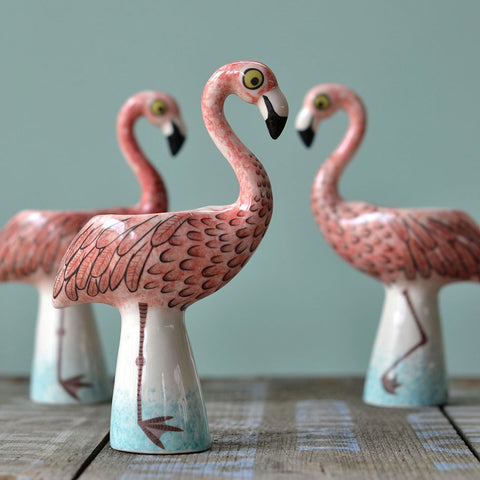 Flamingo Egg Cup by Hannah Turner