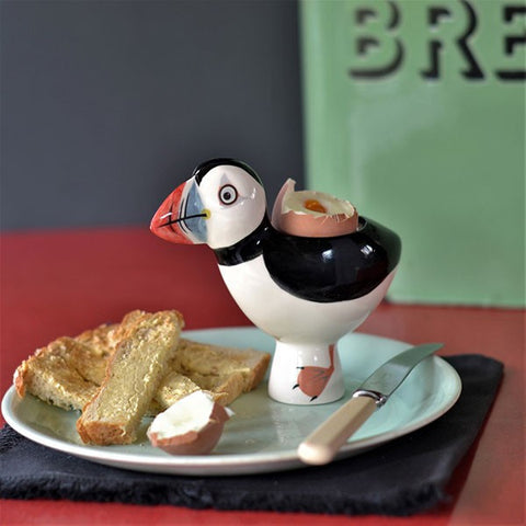 Puffin Egg Cup by Hannah Turner