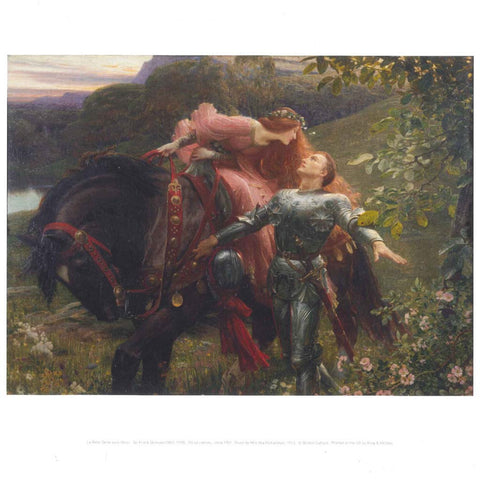 La Belle Dame sans Merci by Frank Dicksee - Mini Print