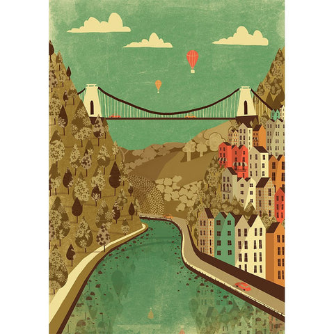Print of Bristol Clifton Suspension Bridge