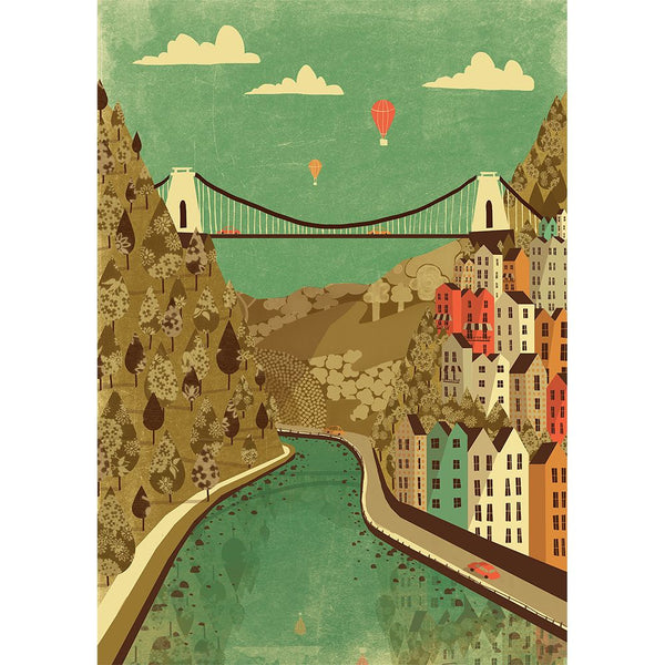Clifton Suspension Bridge A3 Print by Emy Lou Holmes