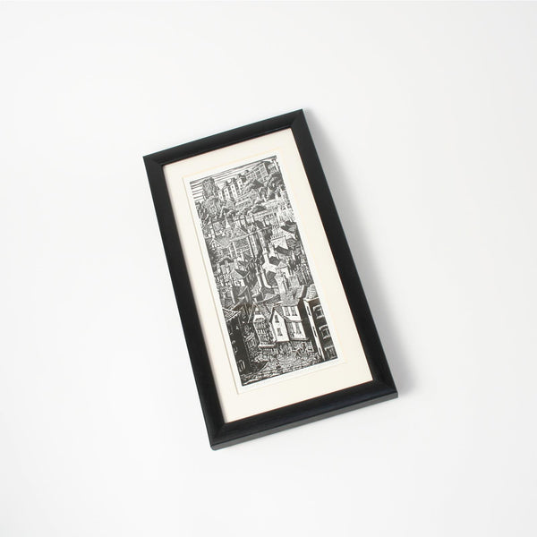 Christmas Steps Small Print Framed by Trevor Haddrell