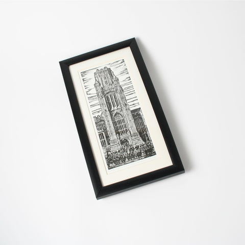 Graduation Day Bristol University Small Framed Print by Trevor Haddrell