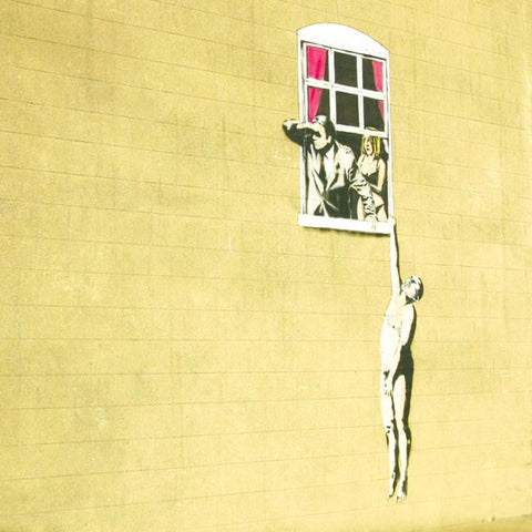 Banksy Well-Hung Man Greetings Card