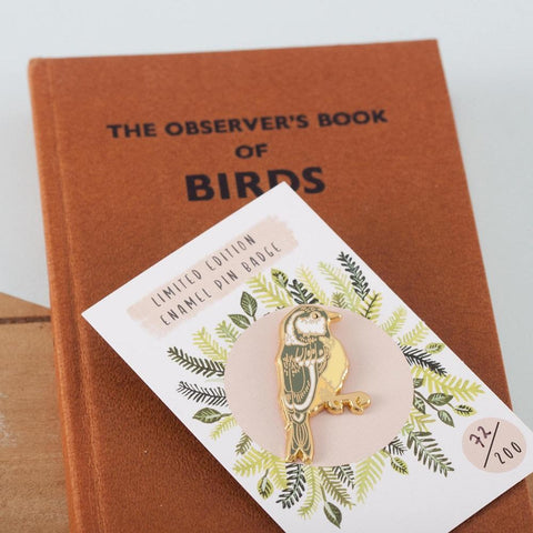 British Garden Bird Pin Badge