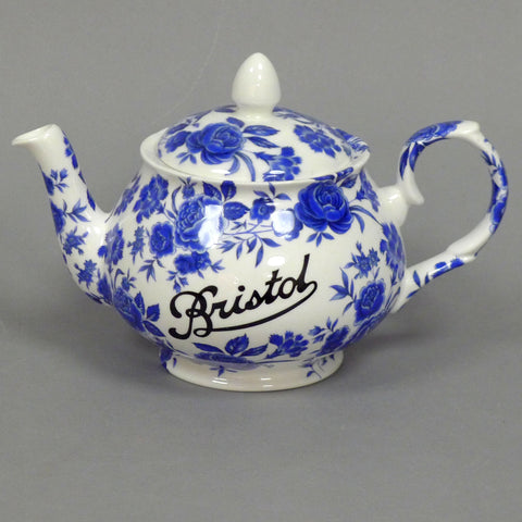 Bristol Blue Rose Teapot