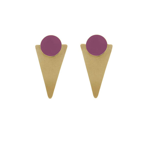 Coloured Brass Statement Studs - Various Colours