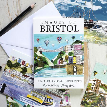 Images of Bristol Set of 8 Notecards by Emmeline Simpson