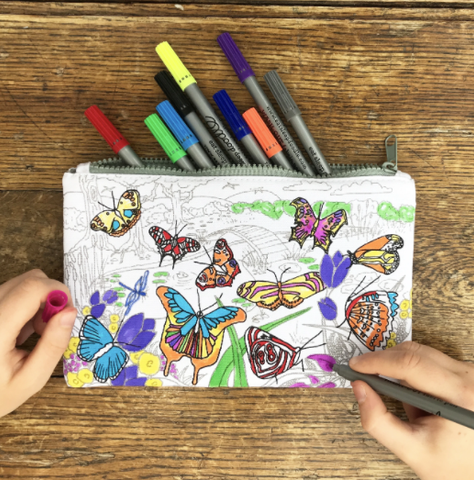 Butterfly Pencil Case - Colour in & Learn