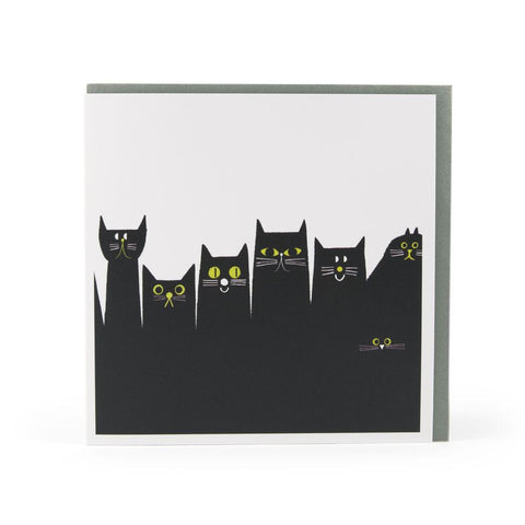 Cat Skyline Card