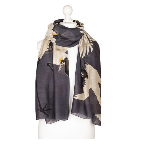 Stork Scarf Charcoal