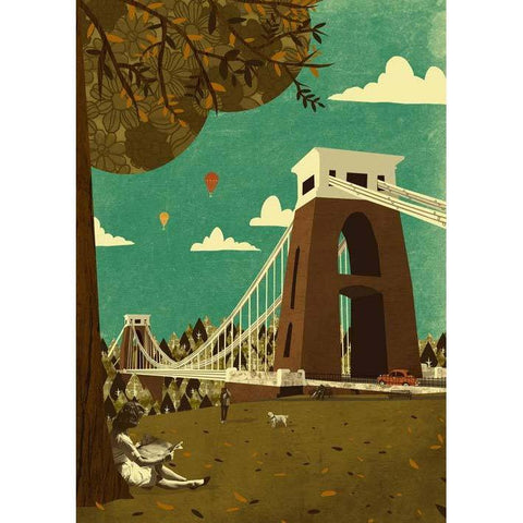 Clifton Suspension Bridge View Print by Emy Lou Holmes