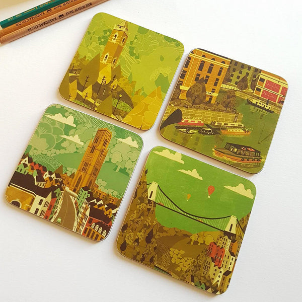 Park Street Coaster set of 4 by Emy Lou Holmes