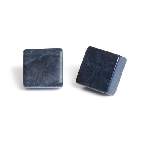 Cosmic Square Studs Navy