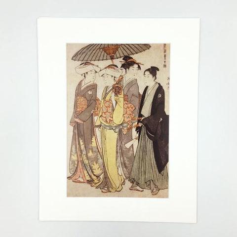 Japanese Print Two Daughters of a Bannerman