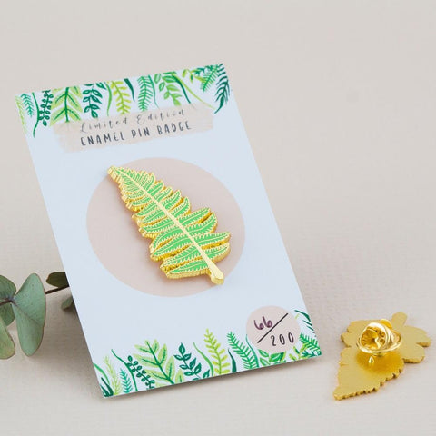 Fern Enamel Pin Badge
