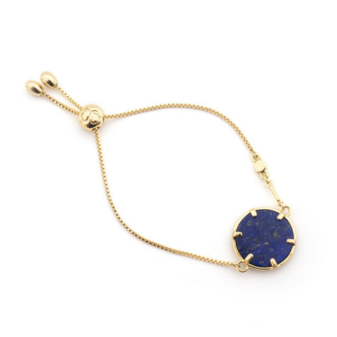 Filigree Disc Bracelet - Lapis