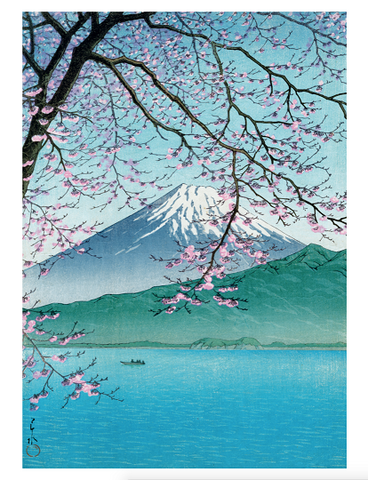 Mount Fuji in the Spring Print