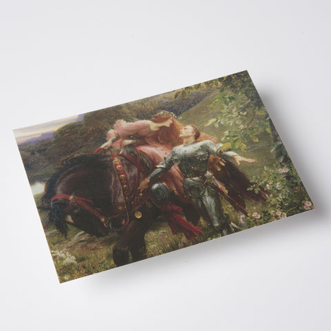 La Belle Dame sans Merci Greetings Card - Bristol Museums Shop