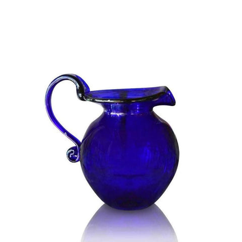 Bristol Blue Glass Large Round Jug