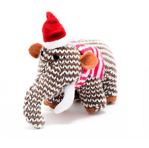 Knitted Mammoth Christmas Decoration