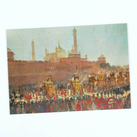 The State Entry into Delhi Postcard