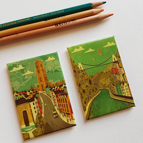 Bristol Fridge Magnet by Emy Lou Holmes - Various Designs