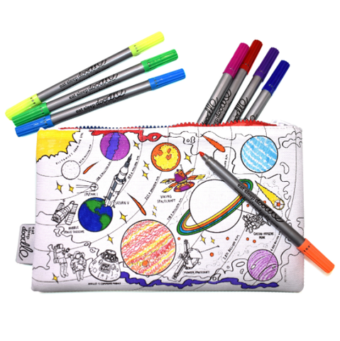 Space Explorer Pencil Case - Colour in & Learn