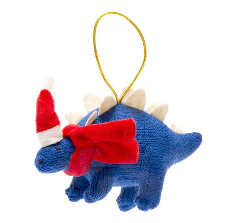 Knitted Stegosaurus Christmas Decoration