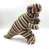 Knitted Stripey T Rex - Various Sizes