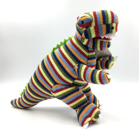 Knitted Multi Stripe T Rex