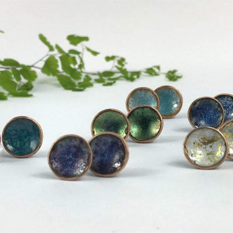 Circle Studs by Katie Johnston - Various Colours