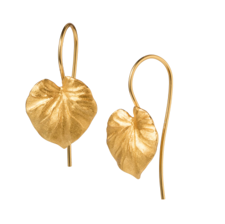 Tropical Leaf Gold Earrings