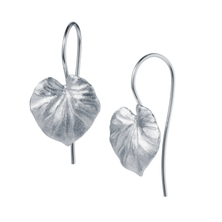 Tropical Leaf Silver Earrings