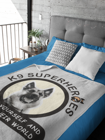 Image of K9 SuperHeroes Throw Blanket