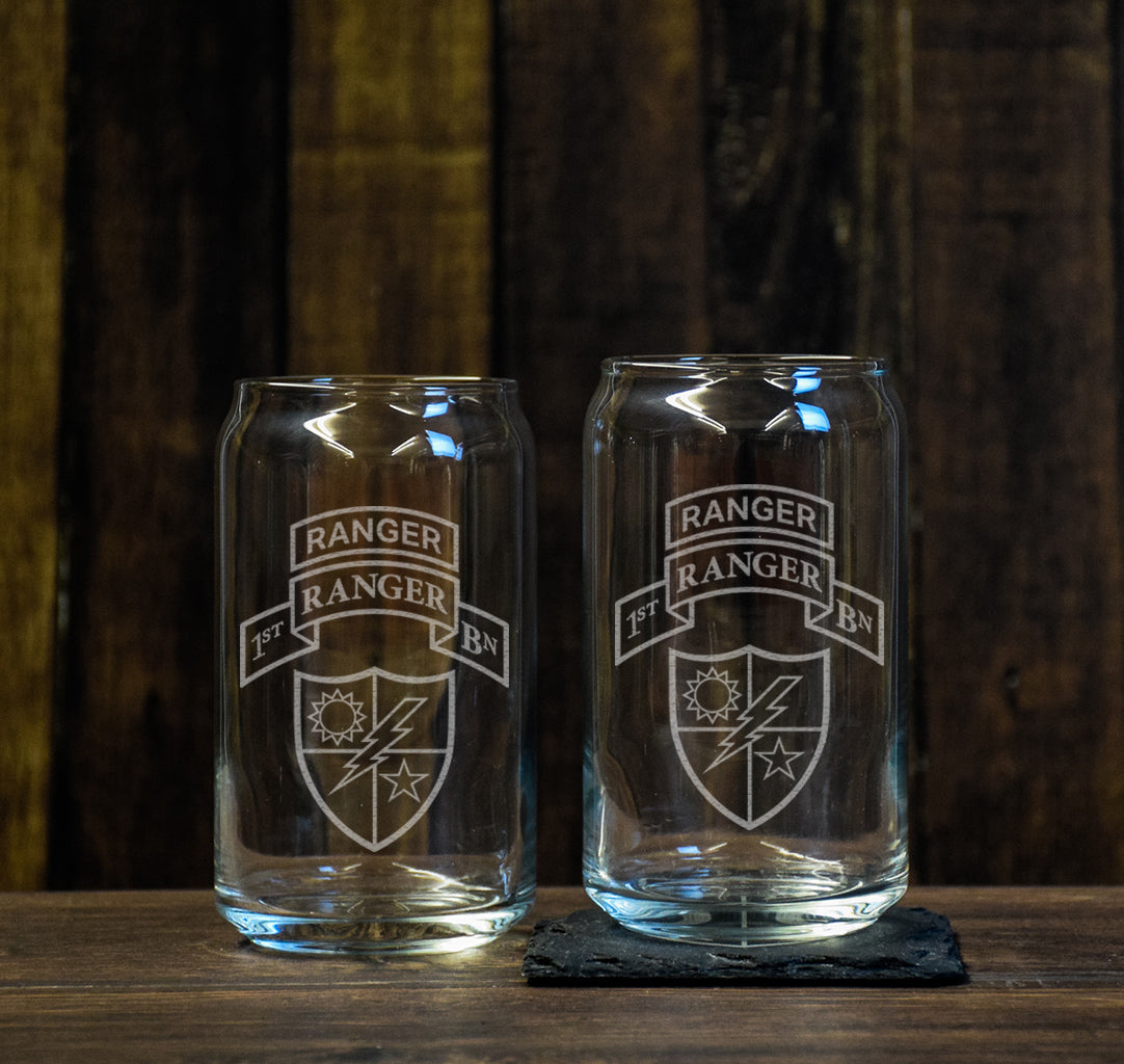 1st Batt Beer Can Glass Set