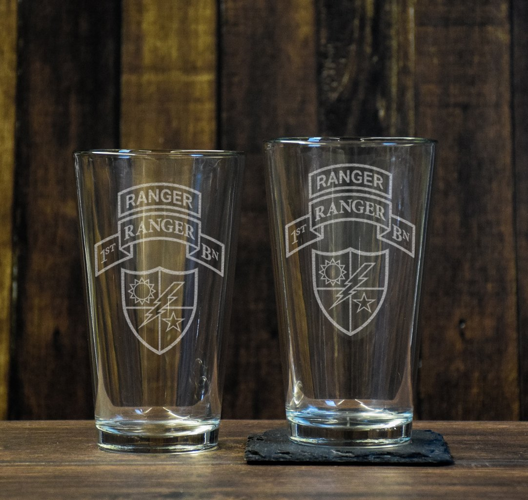 Ranger Scroll Pint Glass Set