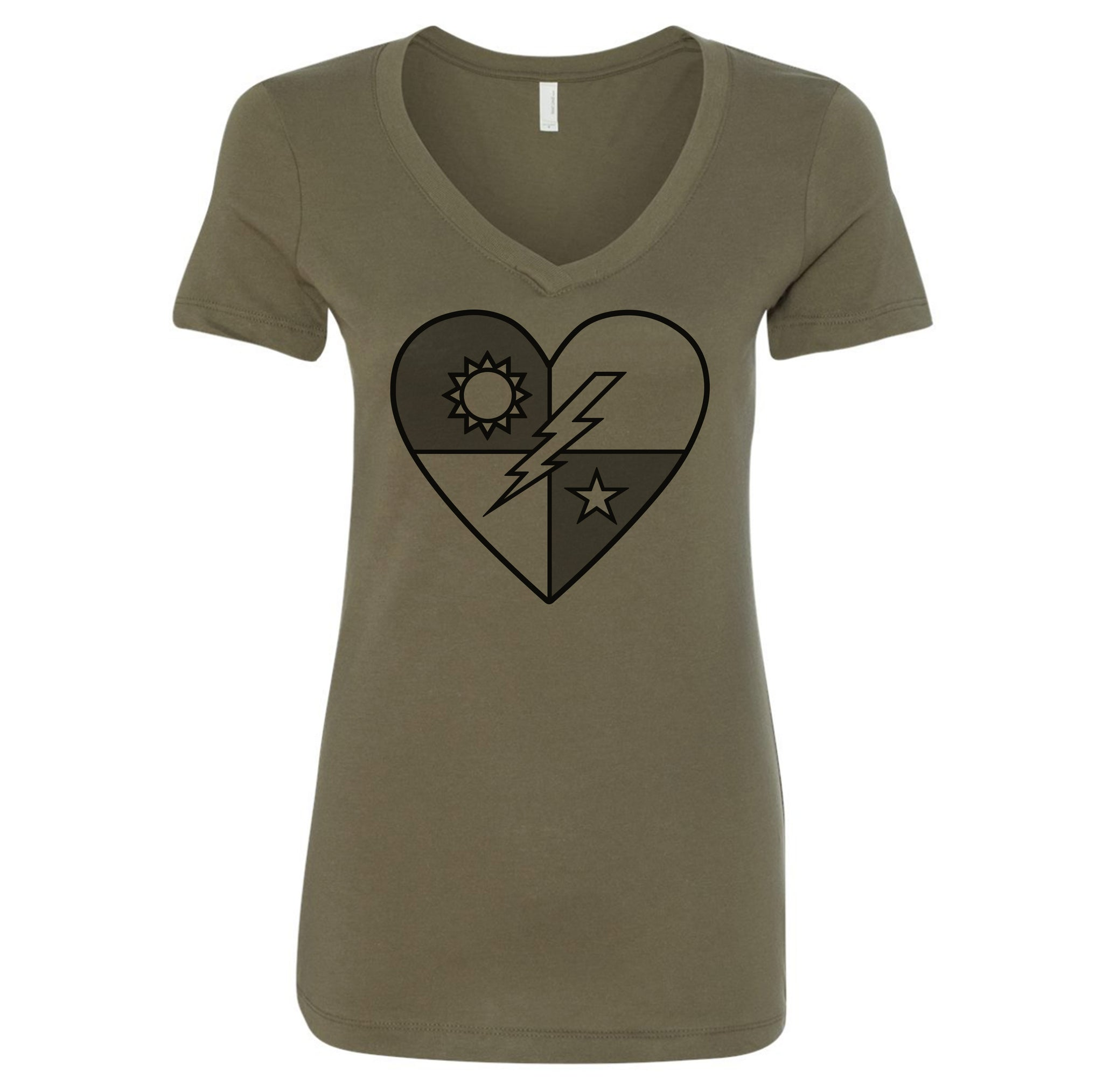 SSF DUI Heart V-Neck