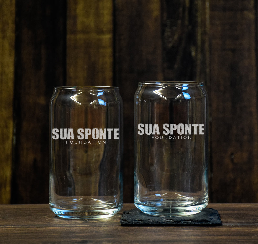 Sua Sponte Foundation Beer Can Glass Set