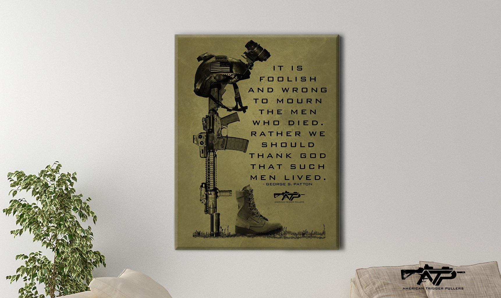 Such Men Memorial Canvas