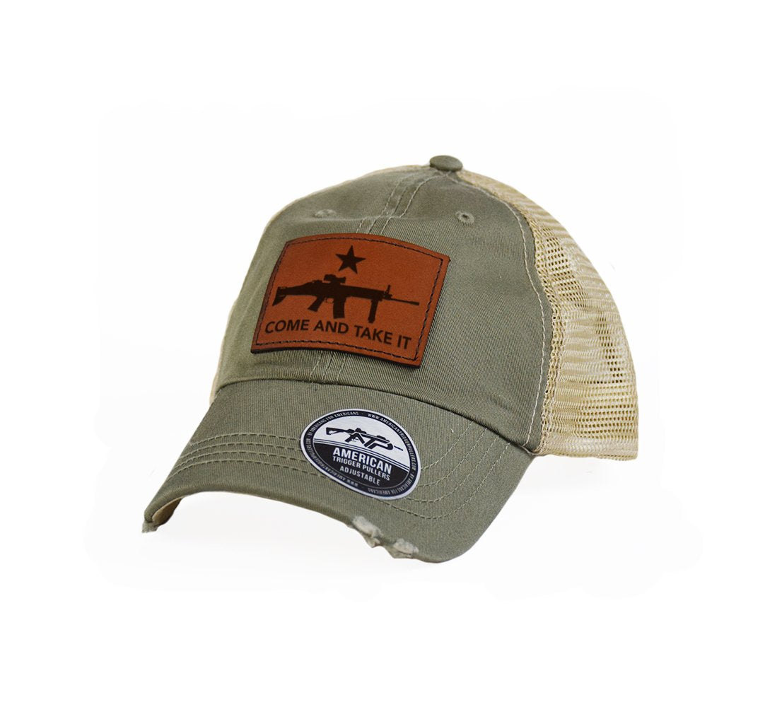Come and Take It SCAR Leather Dad Cap