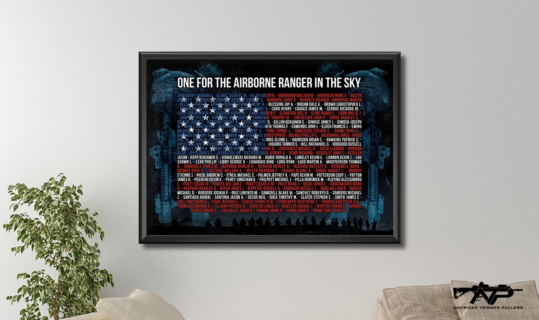 Airborne Ranger in the Sky Canvas