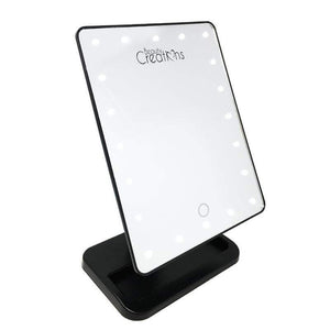 20 LED Makeup Mirror Black - Emma's Boutique