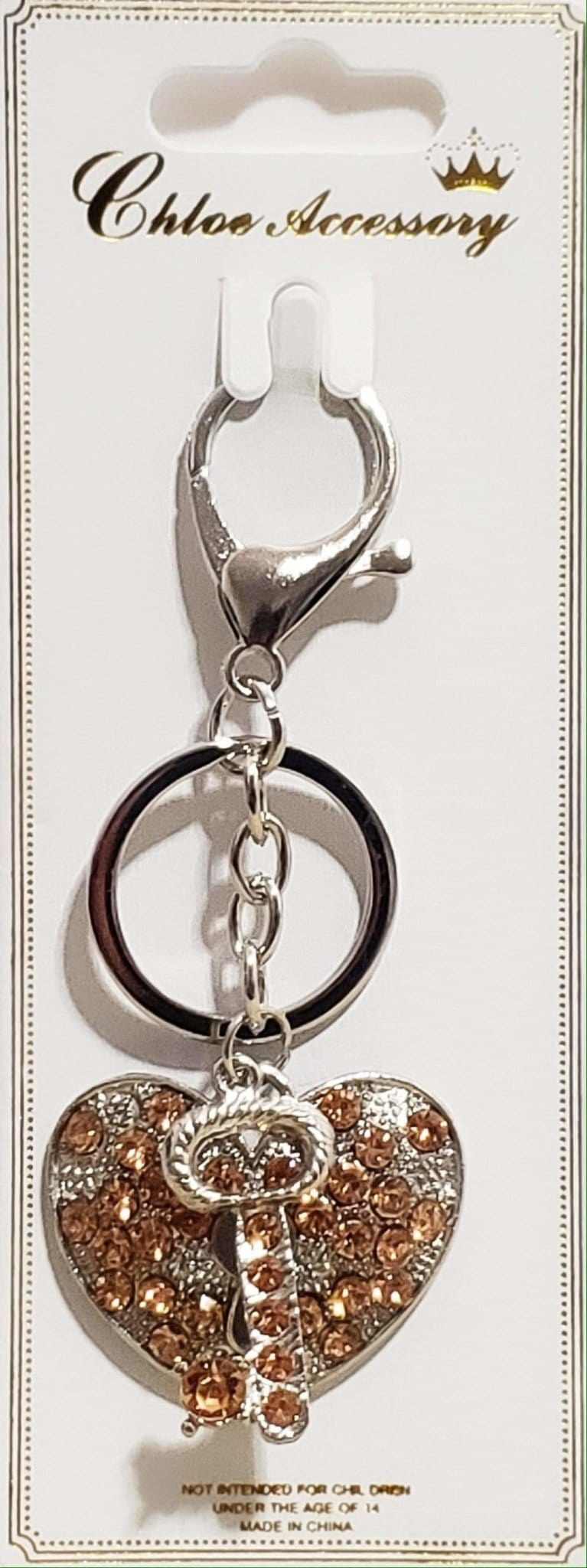 2pc Fashion Heart Key Chain - Emma's Boutique